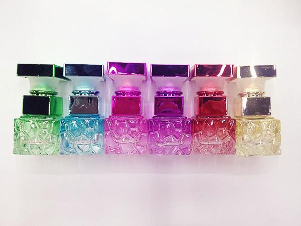 2015 10ML 3Pcs/Lot Vintage design Perfume spray bottle atomizers Colorful Glass signet shaped design(China (Mainland))