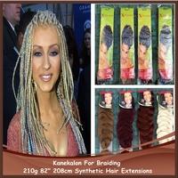 Super Long Synthetic High Quality Hair Extensions 100% Kanekalon Jumbo Braid Expression Afro Kinky Braiding Hair Free DHL
