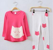 Girls clothing sets cat cute toddler girl clothes kids conjunto infantil meninas conjuntos para meninas cheap