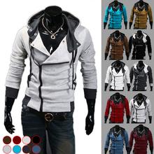 Free shipping 2015 Autumn & Winter Fashion Casual Slim Cardigan Assassin Creed Hoodies Sweatshirt Outerwear Jackets Men size 6XL(China (Mainland))