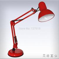 Black Led Reading Table Lamp Clip Bedside Light 220V Foldable Kid Study Eye Protect With 3W LED Bulb E27