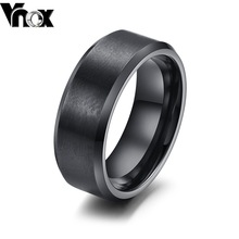 Fashion ring for women and men jewelry  tungsten carbide rings black&gold color wedding rings jewelry