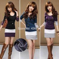 Women Summer Dress Elegant Long Sleeve Bodycon Stripe Party Mini Sexy Casual Dress  Plus Size Dress Vestidos S-XL Alipower