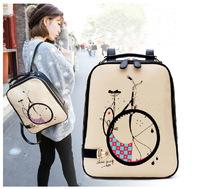 New 2015 Korean Edition Small  Fresh College PU Backpack Female Cartoon Students Bag Mochila Feminina   Free Shippping #M00154
