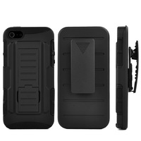 Future Armor For iPhone 5S Case Impact Hybrid Case Cover + Belt Clip Holster Heavy Duty Shockproof Stand Back Phone Bags Cases