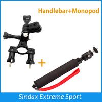 Bike Handlebar Seatpost Pole Mount 3 Ways Pivot Arm+Phone/Camera Handheld Monopod For Gopro HERO 1 2 3+ 4 SJ4000 SJ5000 SJ6000