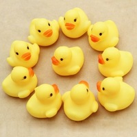 EMS DHL Free shipping mini Rubber bath PVC duck with sound Floating Duck Cute Baby Girl Boy Bathing   Ducks Race Toys Yellow