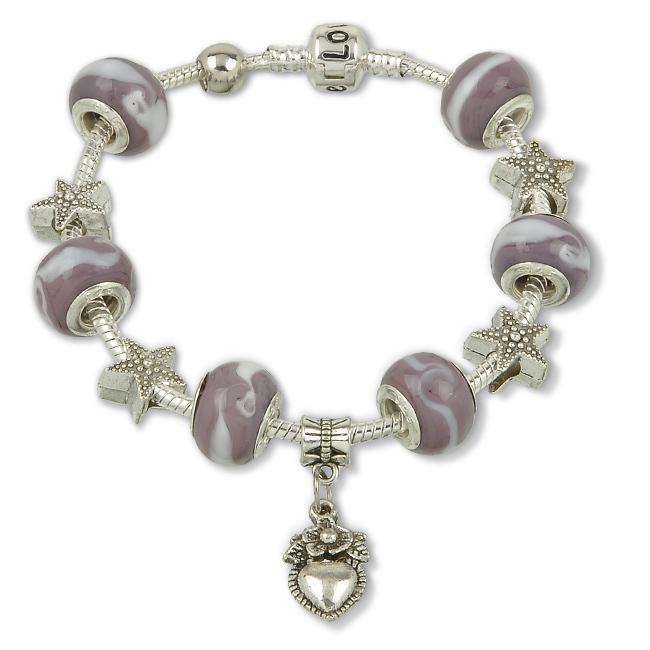 925 Silver Glass Beads Bracelet Jewelry 6Styles Love Heart Angel Pendant Fit Pandora Bracelets Bangles Women Men Whit Gift Box(China (Mainland))
