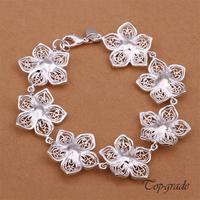 Bracelet Hollow Spent Seven Flowers Pulseira Fashion Bracelets Bangles Romance 925 Sterling Silver Jewelry Top Grade Temperament