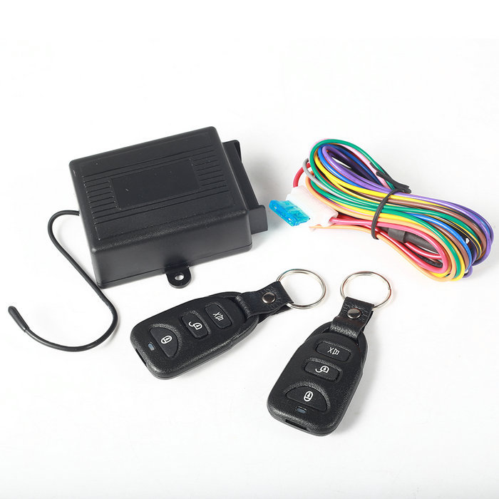 Universal Car Central Door Lock Locking Keyless Entry System + 2 Remote Control Free Shipping(China (Mainland))