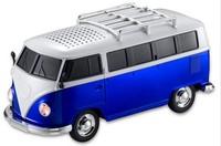 SALE 10pcs/lot WS-266 colorful mini speaker car shape mini bus speaker sound box MP3++U disk+TF+FM function