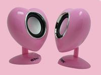 NICE SALE 90pcs/lot 45set Brand New Style Romantic heart E-12 professional active stage speaker USB Plug Subwoofer