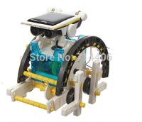 Kids Educational learning diy toy 14 in 1 solar Robot assembling bricks building blocks robot baby toys & Transformation car
