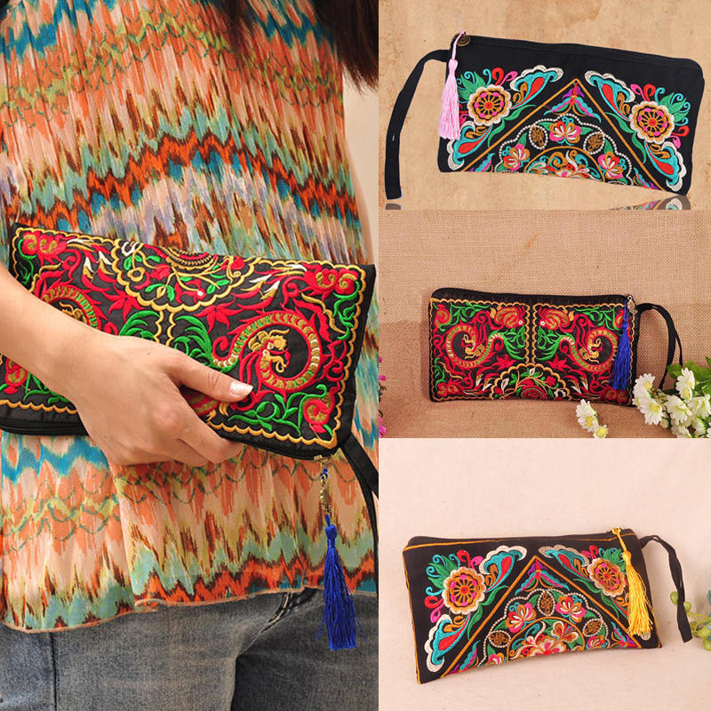 Brand New Women Wallets 2015 Fashion Trends Embroider Wallet High quality Casual Cotton Long Wallet Women Purse Clutch Handbags(China (Mainland))