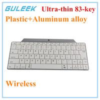 GULEEK Plastic+Aluminum Alloy MiNi Bluetooth 3.0 Wireless 83-Key Keyboard-White+Black