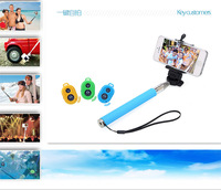 Retail Monopod +Clip Holder+ wireless Bluetooth Camera Shutter Self-timer Remote Control Handheld for iPhone IOS Android phone