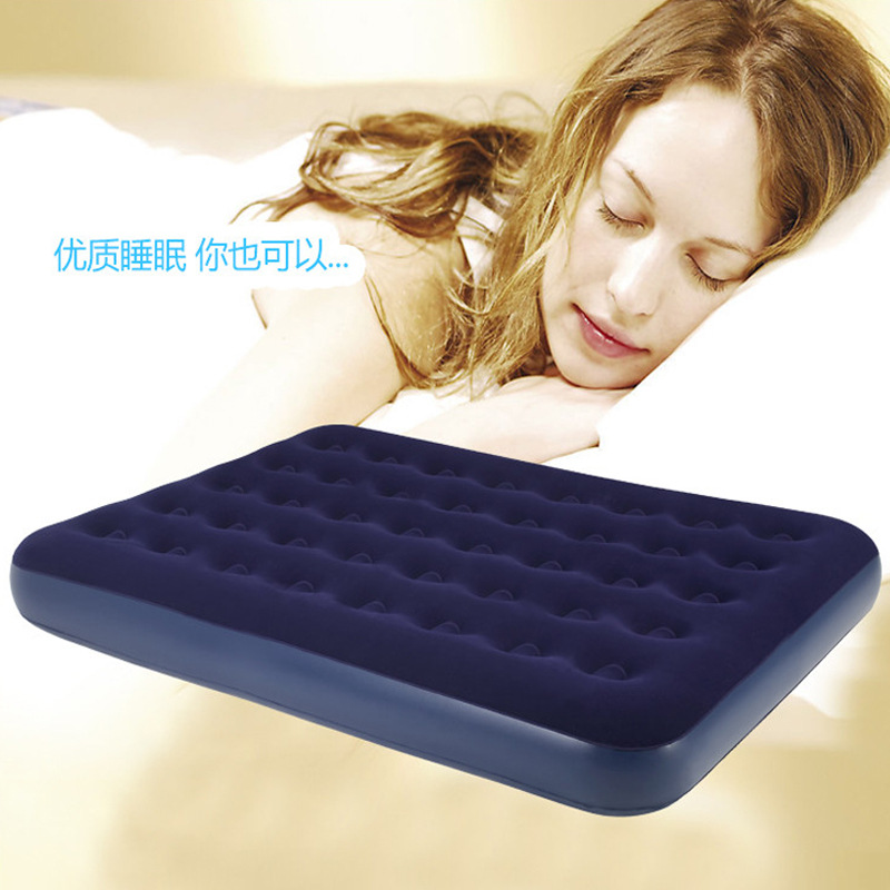 Authentic BESTWAY67274 honeycomb pillar flocked double air bed inflatable mattress 1.2 m wide(China (Mainland))