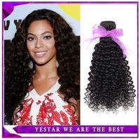 Ali POP Peruvian virgin hair kinky curly 1Pc/Lot Hot selling Peruvian curly hair extension Human hair Nutural black hair