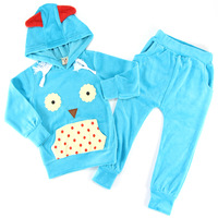 2015 New Children's Clothing Cute Owl Cartoon Boys Clothing Sets Spring & Autumn Baby Kids & Mothercare Clothes Children's Sets