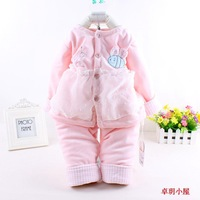 free shipping! Hot sale Spring and  Autumn baby clothing set infant long sleeve baby girls clothes suit Top + pants