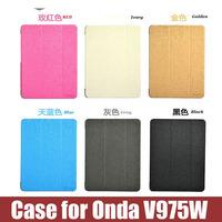 9.7inch tablet pc case cover case for ONDA V975W plastic cover case ultrathin alice pattern design flip case