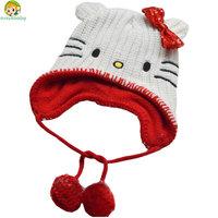 Avivababy winter hat children cute hello kitty  hats good brand knitted cap warm beanies for children hat Skullies & Beanies cap