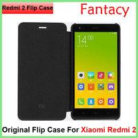Original Xiaomi Redmi 2 Flip Leather Case Red Rice 2 Leather Case Flip The Protective Sleeve Xiaomi Hongmi 2