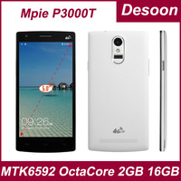 "Free Shipping! MPIE P3000T 5"" HD MTK6592 Octa Core Android 4.4 4G LTE Phone Fingerprint Scanner NFC 2GB RAM P05-MP3000T/Koccis"