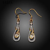 Free shopping 18K gold plating earrings Fashion High Quality zircon earrings KASHAE011