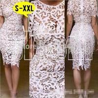 2014 Women Summer Lace Dresses Casual Vestidos Femininos Women Lace Dress Plus Size Fashion Sexy Cute Vest Slim Hip Dresses