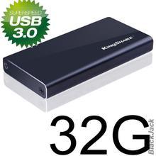 Original Kingshare External SSD 32GB Read 290MB/S Write 80MB/S with MLC NAND Chip USB3.0 flash drive/hard drive/Laptop/computer(China (Mainland))