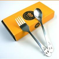 2015 NEW dinnerware sets table knife spoon Chopsticks muti gift box lovely design tableware Free Shipping