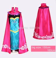 2015 NEW Retail hot sell children/kids/girls Elsa princess cosplay costumes dress and cloak /Coronation robes/ Performance dress