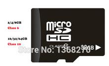 Memory card 2GB/4GB/8GB/16GB/32GB/64GB class 10 tf  card class 6 Micro SD card Genunie  & MINI SD card for phones(China (Mainland))
