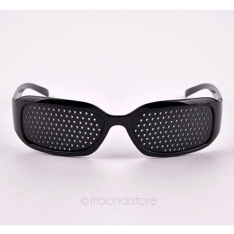 Black Unisex Eyesight Vision Improve Eyeglasses pinhole Glasses Eye Care Exercise plastic Hot Selling BMHM107#C1(China (Mainland))