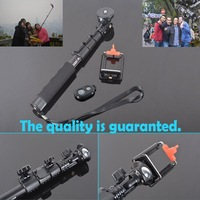 Extendable Telescoping Handheld Bluetooth Monopod with Mount Adapter/ Remote Control for Phone for GoPro Hero 1/2/3/3+4 SJ4000