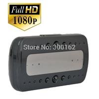 V26 Black pearl RF night vision alarm clock motion detection video recording HD 1080p Hidden Camera Clock free shipping
