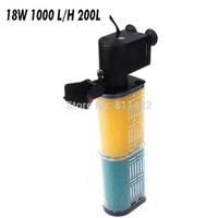 Biological Internal Filter for Aquarium Fish Tank,artemia aquarium filter,aquarium oxygen air pump accessories18W 1000 L/H 200L