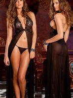 High Quality Black Sexy  Women's Lingerie Sets G-string Sleepwear erotic sexiest lingerie plus size Bathrobes S-XXXL 73777-73782
