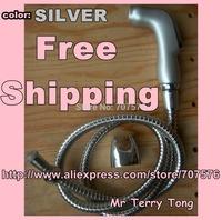 Shattaf ( silver color) Handheld Bidet / Portable Sprayer Diaper Sprayer TS078L-Br-SET  head+120cm hose+holder+bolts