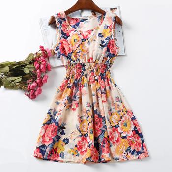 Весенние платья женщин свадебные платья феста ренда свободного покроя платье Desgiual шифон распечатать одежда летнее платье женский Roupas Femininas