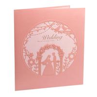 Fairy Wedding Ceremony Design Laser Cut Handmade Wedding Invitation Cards 2015 Brand New 50pcs Free Shipping