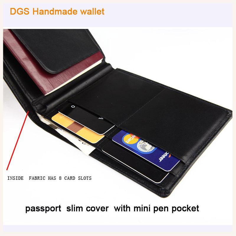 2015 popular style slim your wallet leather bellroy travel-light passport holder bag with mini pen pocket holder travel wallet(China (Mainland))