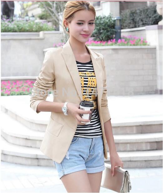 Женский пиджак Brand New 2015 Feminino Blaser Slim Fit blazer feminino 2015 женский костюм с юбкой shangya 2015 blaser feminino my01 i