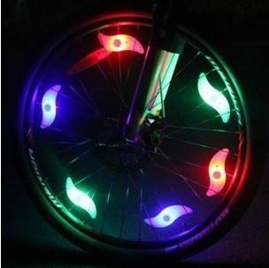 Free shipping Best Sale Leaf Shape Lighting Bicycle Light Flash LED bike Light Motor Tire Tyre Valve W