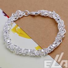 2015 Factory Direct Sale Free Shipping 925 silver plated chain bracelet men 7 women jewelry pulseras bracelets wholesale