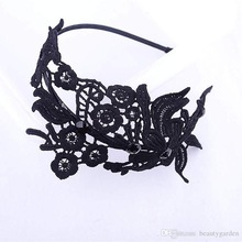 Gothic Style Floral Hairband Handmade Lace Flower Headband Women s Marriage Hair Accessories JHL101