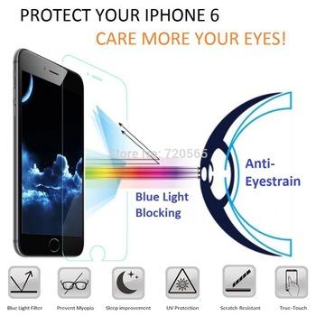 """Синий свет уф фильтр предотвратить близорукость экран протектор Pelicula дети защитная пленка для iPhone 6 4.7 """" дюймовый бесплатная доставка"""