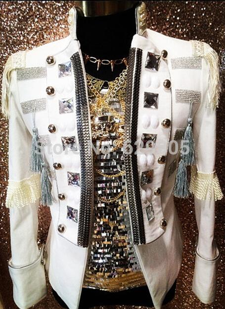 Одежда для китайских народных танцев 2015 DJ DS long jacket