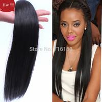 2015 new 7A grade beauty Hair Product 4pcs Lot silk  Brazilian Virgin Hair Extension Straight remy Hair Weave